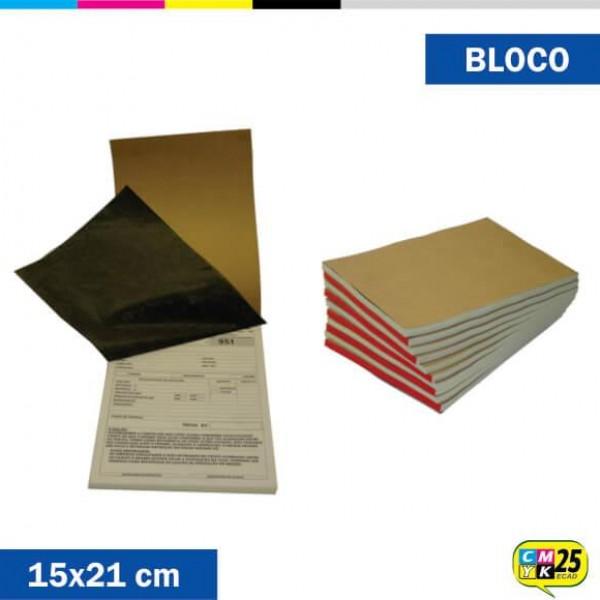 Detalhes do produto Talão A5 - 15x21cm - 10 Blocos 50x2 vias - Impressão 2 Cores + Numeração