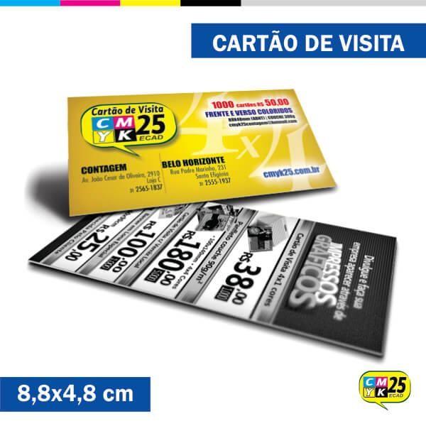 Detalhes do produto Cartão de Visita - 4x1 - 8000 Unid.