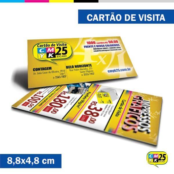 Detalhes do produto Cartão de Visita - 4x4 - 8000 Unid.