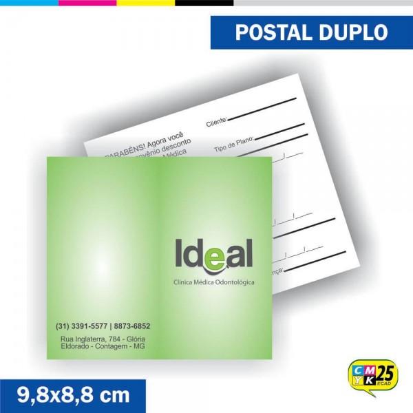 Detalhes do produto Postal Duplo - 4x1 Cores - Verniz Total Frente