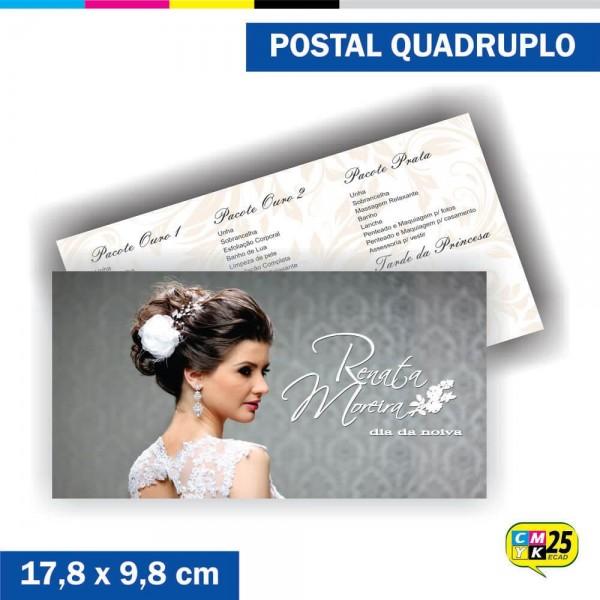 Detalhes do produto Postal Quadruplo - 4x4 Cores - Verniz Total Frente
