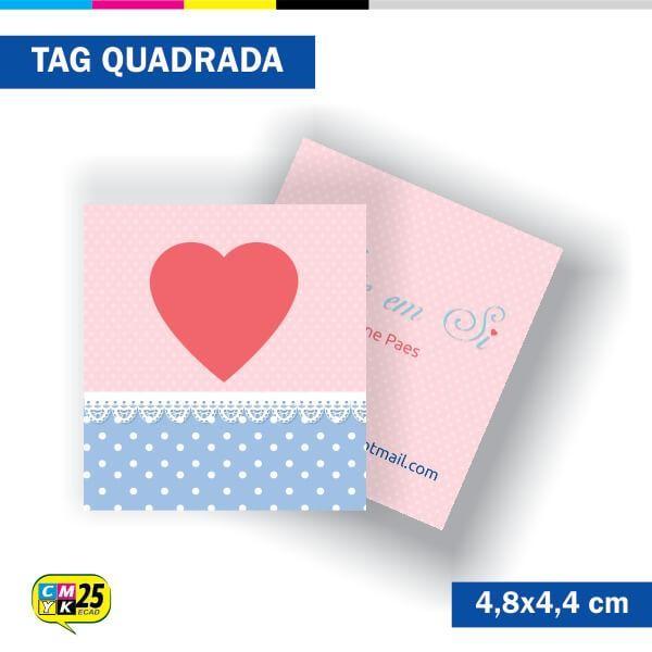 Detalhes do produto Tag 4x4 - Quadrada - 2000 Unid. - 4,8x4,4cm + Furo 5mm