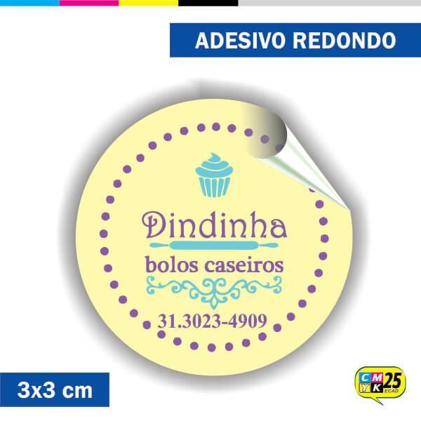 Detalhes do produto Adesivo Redondo em Papel - 3x3cm