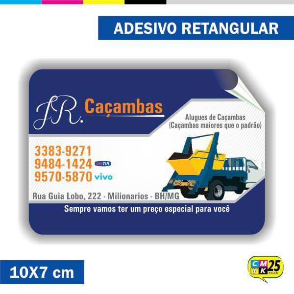 Detalhes do produto Adesivo Retangular em Papel - 10x7cm