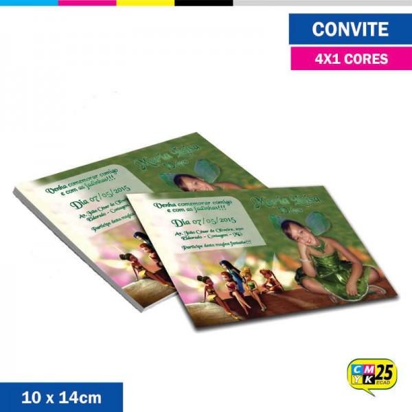 Detalhes do produto Convite 10x14cm - 4x1 Cor
