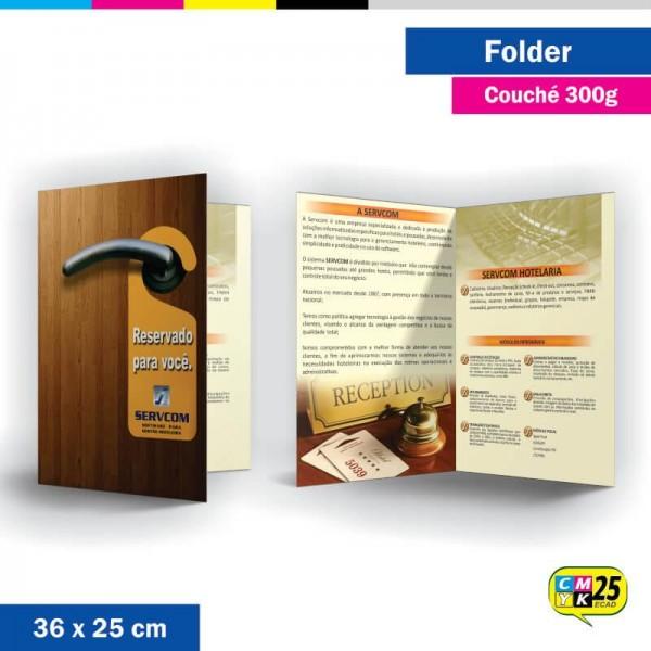 Detalhes do produto Folder 2 Bandeiras - 36x25cm - Couché 300g - 4x4 Cores - 1.000 Unid.