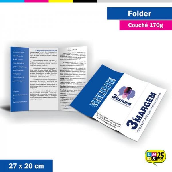 Detalhes do produto Folder 3 Bandeiras - 27x20cm - Couché 170g - 4x4 Cores - 2.000 Unid.