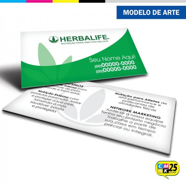Detalhes do produto Cartão de Visita Herbalife - 03