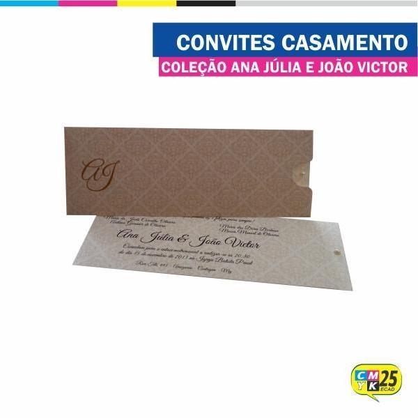 Detalhes do produto Convite de Casamento - Coleção Ana Júlia e João Victor