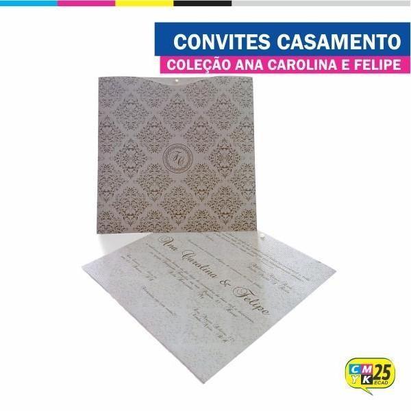 Detalhes do produto Convite de Casamento - Coleção Ana Carolina e Felipe