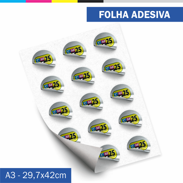 Detalhes do produto Folha Adesiva - Couchê 80g - 10 unid.