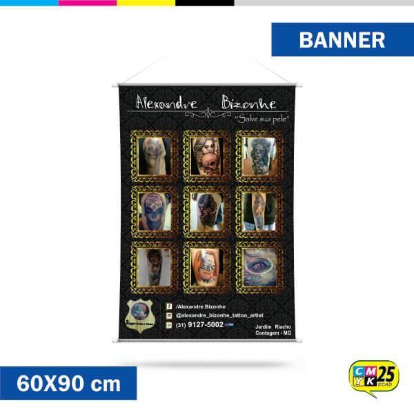 Detalhes do produto Banner 60x90cm - Ilhós