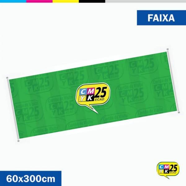 Detalhes do produto Faixa 60x300cm - Bastão de Madeira com Cordão e Ilhós