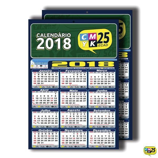Detalhes do produto Calendário 2020 AJC