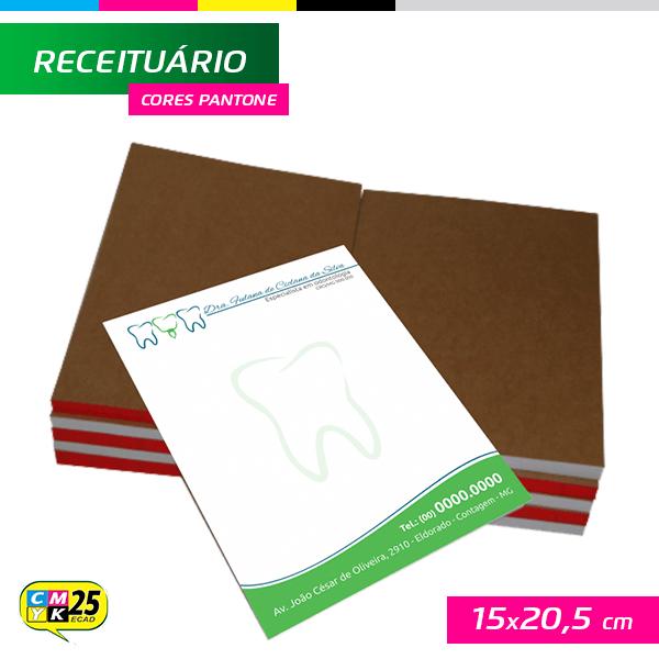 Detalhes do produto Receituário A5 - 15x20,5cm - 1000 Unid. -  Impressão 3 Cores