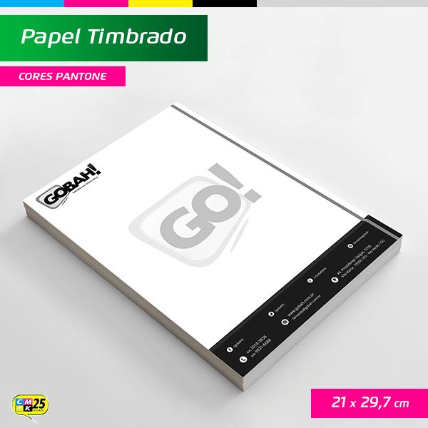 Detalhes do produto Papel Timbrado A4 - 21x29,7cm - 1000 Unid. - Impressão Cor Preta