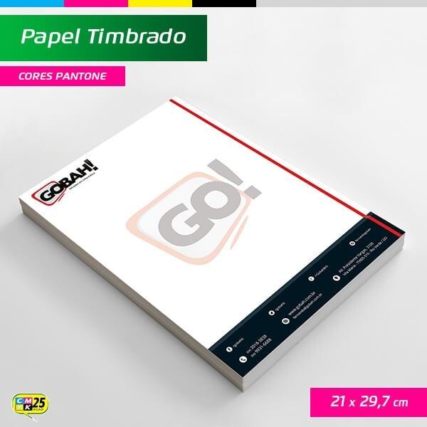 Detalhes do produto Papel Timbrado A4 - 21x29,7cm - 1000 Unid. - Impressão Cor Preta + 2 Cores Adicionais