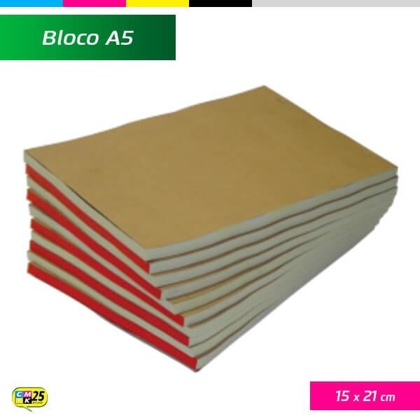 Detalhes do produto Bloco A5 - 15x21cm - 10 Blocos 100x1 Via - Impressão 2 Cores