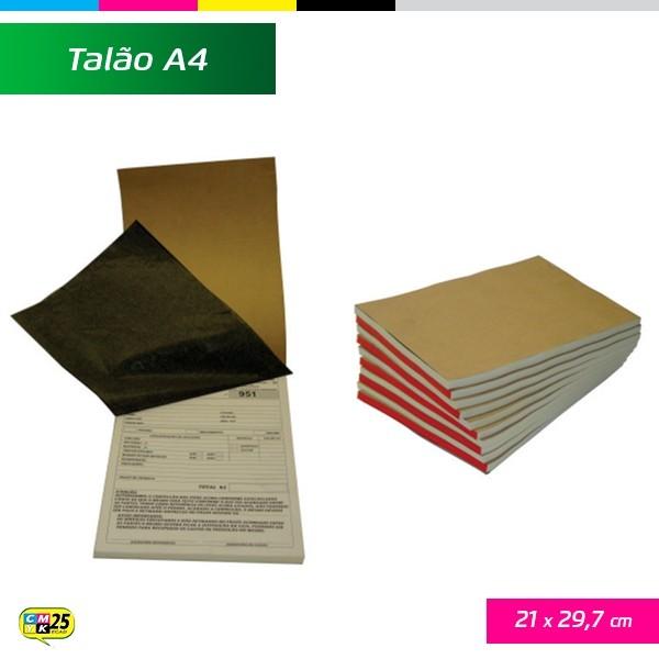 Detalhes do produto Talão A4 - 21x29,7cm - 10 Blocos 50x2 Vias