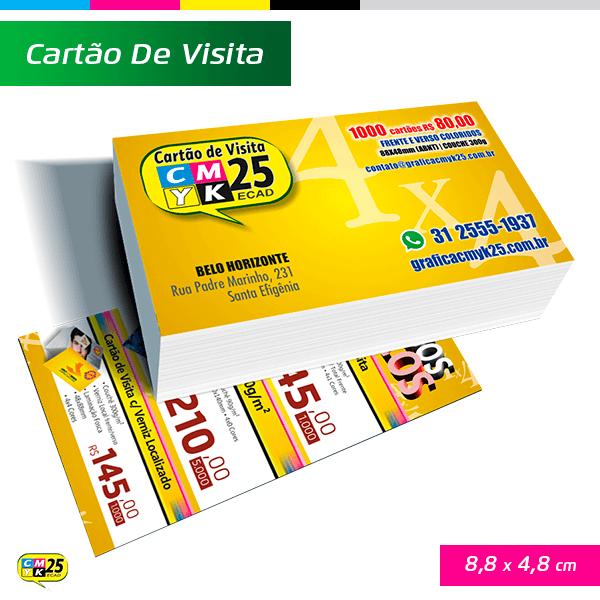 Detalhes do produto Cartão de Visita - 4x4 - 1000 Unid.