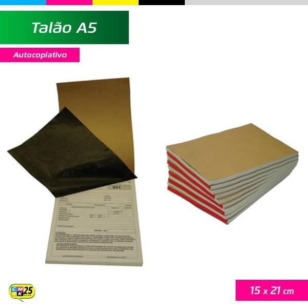Detalhes do produto Talão A5 - 15x21cm - 10 Blocos 50x2 Vias - Autocopiativo + Numeração
