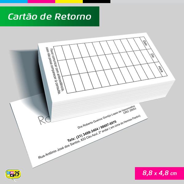 Detalhes do produto Cartão de Retorno - 4x1 + Arte Final