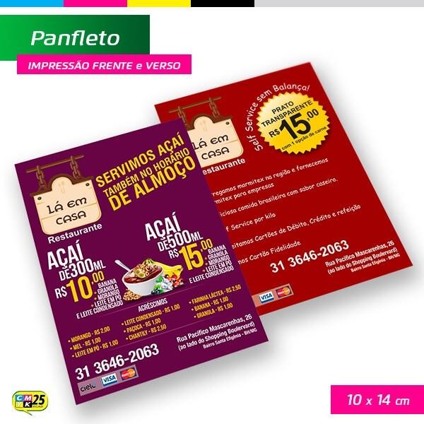Detalhes do produto Panfleto A6 - 4x4 - 10X14cm + Arte Final