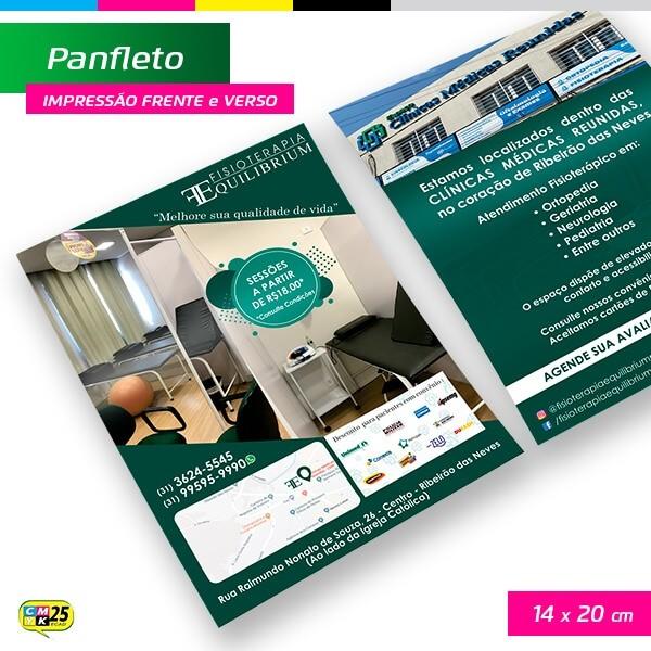 Detalhes do produto Panfleto A5 - 4x4 - 14x20cm