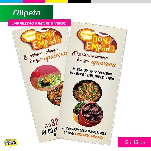 Detalhes do produto Filipeta - 4x4 - 5x15cm - 2.000 Unid + Arte Final