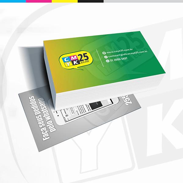 Detalhes do produto Cartão de Visita - 4x1 - 1000 Unid.
