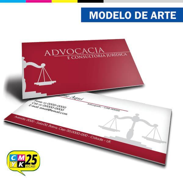 Famosos Cartão de Visita Advogado - Vermelho e Cinza - Gráfica CMYK25 HD96