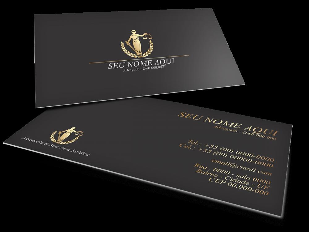 Cartão de Visita Advogado - Preto e Dourado