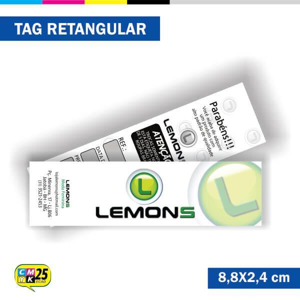 Tag  4x1 - Retangular - 2000 Unid. - 8,8x2,4cm
