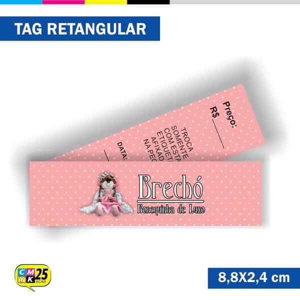 Tag  4x4 - Retangular - 2000 Unid. - 8,8x2,4cm