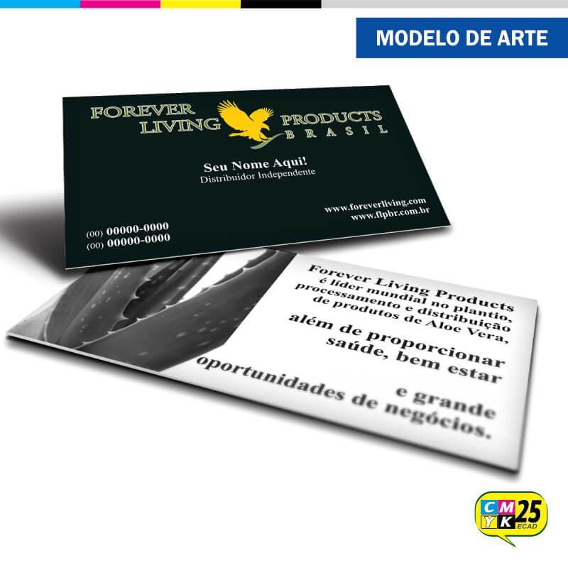 Cartão de Visita Forever Living - 02 - Gráfica CMYK25