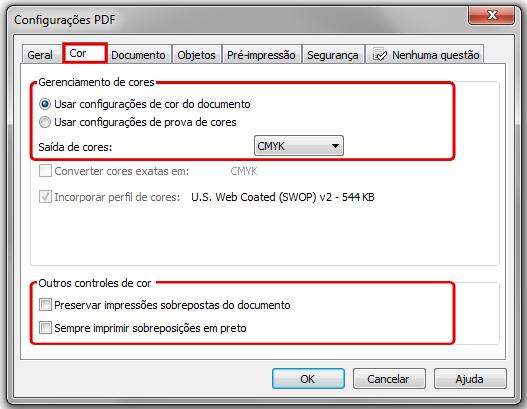 Publicar em PDF/X1-A
