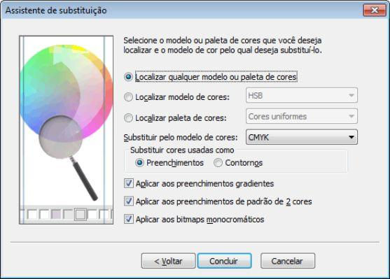 Como converter as cores para CMYK