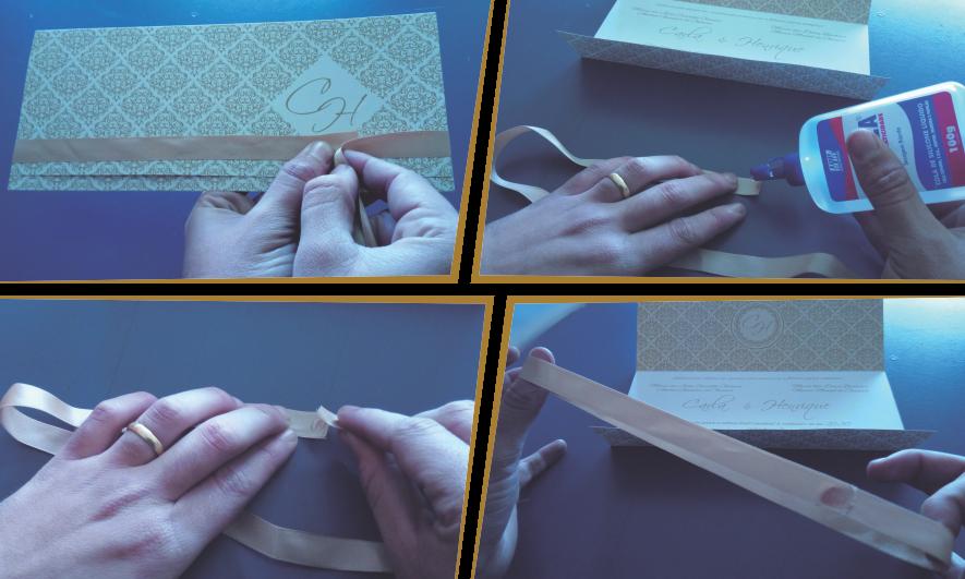 Como fazer laço para enfeite de convites
