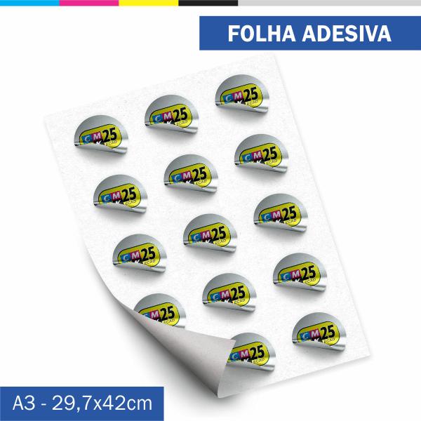 Folha Adesiva - Vinil Prata