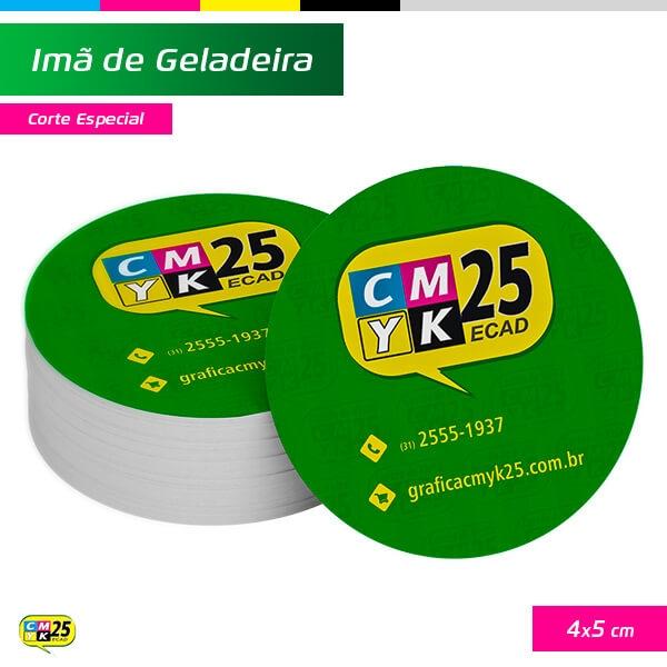 Ímã de Geladeira - 4x5cm - Corte Especial - 1000 Unid.