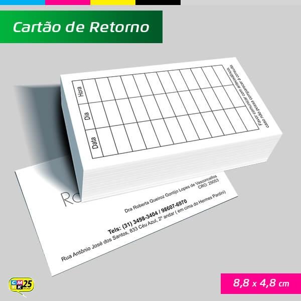 Cartão de Retorno - 4x1