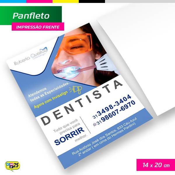Panfleto A5 - 4x0 - 14x20cm - 2.500 Unid.